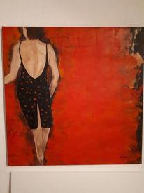 Frau, Menschen, Modern art, Acrylmalerei