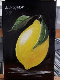 Essen, Zitrone, Ölmalerei, Pflanzen