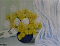 Gelb, Pusteblumen, Blau, Küche