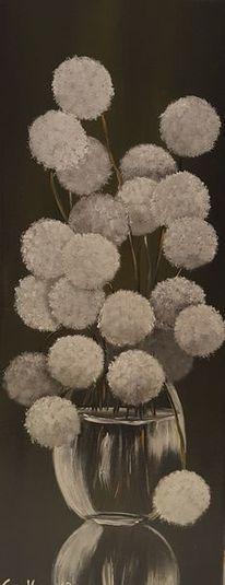 Grün, Malerei, Pusteblumen, Stillleben