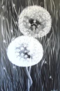 Acrylmalerei, Schwarz weiß, Esszimmer, Landschaft