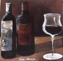 Fass, Modern, Wein, Acrylmalerei
