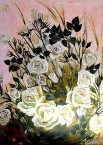 Weiß, Wunschbild, Blumen, Weiße blüten