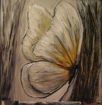 Braun, Grau, Wand bild, Ölmalerei