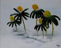 Malerei, Winter, Blumen, Sommergalerie