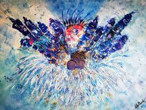 Farben, Abstrakt, Modern art, Malerei spachteltechnik