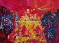 Inspiration, Acrylmalerei, Landschaft, Malerei abstrakt