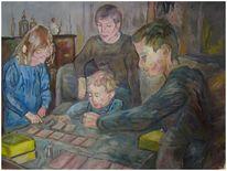 Malerei, Ölmalerei, Spiel, Kinder