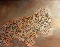Hund, Spaghetti, Malerei