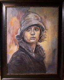 Frau, Hut, Malerei