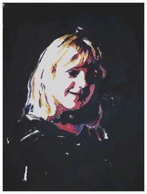 Hell, Portrait, Dunkel, Malerei