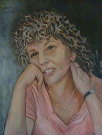 Sauerkrauthaar, Frau, Portrait, Malerei
