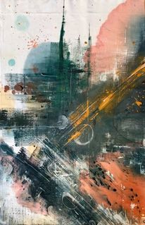 Modern, Modern art, Farben, Malerei
