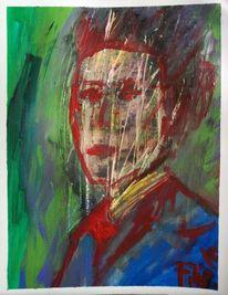 Farben, Malerei, Gesicht, Portrait