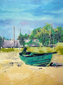 Ölmalerei, Strand, Landschaft, Fust