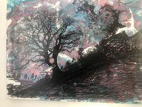 Acrylmalerei, Mystik, Geheimnisvoll, Malerei