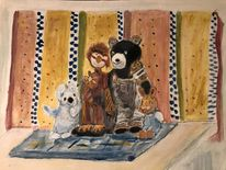 40 x50, Weihnachten, Gouachemalerei, Malerei