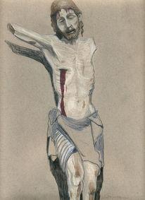 Kreuz, Holz, Bode museum, Zeichnungen