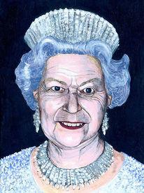 Königin von england, Krone, Elisabeth, Malerei