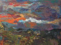 Acrylfarben, Abstrakt, Landschaft, Malerei