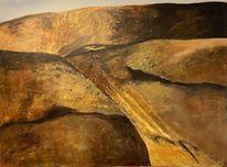 Lava, Landschaft, Acrylmalerei, Malerei