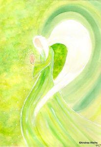 Hoffnung, Engel, Spirituell, Aquarellmalerei