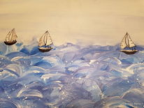 Meer, Boot, Weiß, Schiff