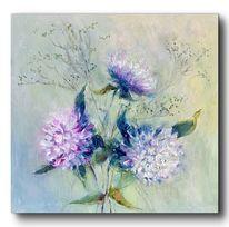 Ölmalerei, Blumen, Malerei, Hortensien