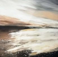 Abstrakt, Flut, Acrylmalerei, Landschaft