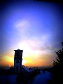 Licht, Turm, Sonnenuntergang, Fotografie