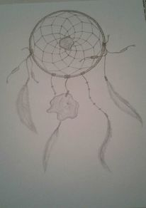 Bleistiftzeichnung, Traumfänger, Traum, Zeichnungen