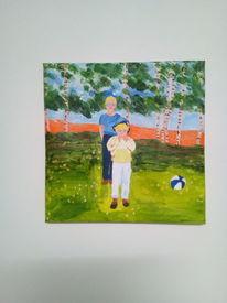 Sommer, Landschaft, Kinder, Malerei
