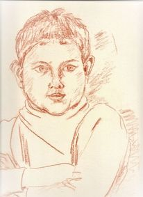 Martha krug, Zeichnung, Enkelsohn steffen, Zeichnungen