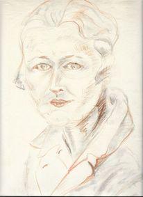 Martha krug, Zeichnung, Studenfreundin anna, Zeichnungen