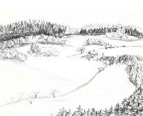 Zeichnung, Sächsisches vogtland, Martha krug, Zeichnungen