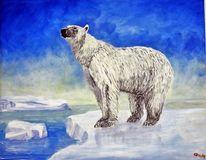 Acrylmalerei, Tiere, Eisbär, Malerei