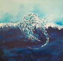 Welle, Weiß, Meer, Abstrakt