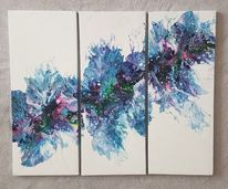 Acrylfarben, Triptychon, Wandbild, Gemälde