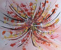Gemälde, Bunt, Spachteltechnik, Malerei