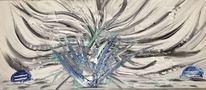 Acrylmalerei, Gemälde, Spachteltechnik, Malerei abstrakt