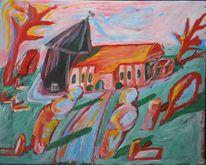 Meer, Kirche, Dorf, Wind