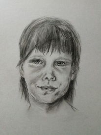 Skizze, Portrait, Mädchen, Zeichnungen