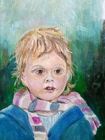 Portrait, Staunen, Malerei