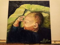 Baby, Portrait, Josiah, Malerei