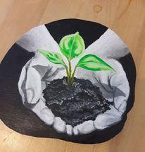 Hoffnung, Acrylmalerei, Pflanzen, Malerei