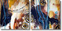 Modern art, Malerei acrylmalerei, Abstrakt, Design
