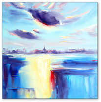 Ölmalerei, Modern art, Stadt, Design