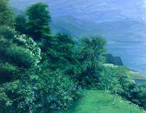 Landschaft malerei, Garten, Tessin, Malerei