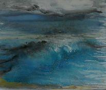 Welle, Grau, Wolken, Bewegung