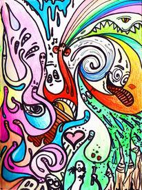 Malerei, Psychedelisch, Farben, Zeichnung